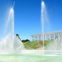 フラワーパーク噴水(昼)