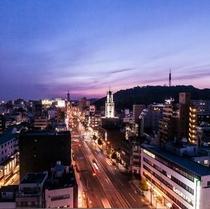 当館からの松山城眺望