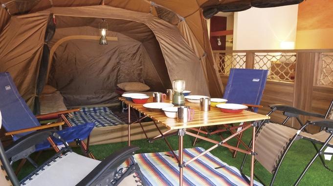 【キッズ応援!ホテルでキャンプ気分】お部屋はプライベートテラス付き(72平米)でゆったり◇素泊まり◇