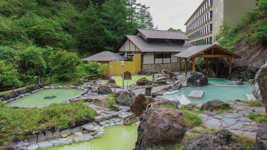 【石庭露天風呂】4つの源泉で、特別な空間をご満喫いただけます
