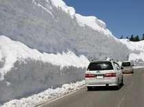 国道292号線の雪壁