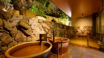 【大浴場A・金泉露天風呂】露天風呂は湯量豊富な金泉をお楽しみいただけます。