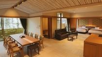 【別館1F貸切特別室「太閤」140平米】全景・どのお部屋よりも広く、天井が高い1室限定の特別室