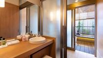 【別館1F貸切特別室「太閤」140平米】脱衣所・ドライヤーはパナソニックのナノケアをご用意