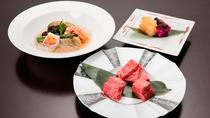 【神戸牛&鮑付】神戸牛サイコロステーキと鮑のおまかせ料理を一緒にお楽しみいただける贅沢プラン!