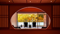 【金泉露天風呂付・特別室】1室限定・広いテラス・露天風呂から紅葉に色づく木々をお楽しみいただけます