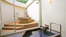 *【別館-貸切風呂】50分:3000円でご利用OK!金泉露天と沸かし湯の内湯の2つの浴槽があります