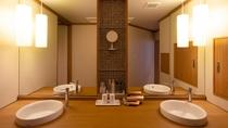 【別館1F貸切特別室「太閤」140平米】洗面台は2台ございます