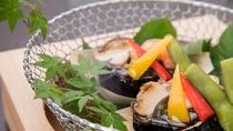 【夕食・焼き物一例】夏の焼きもの一例毎年趣向を凝らして季節のお料理を提供いたしております。