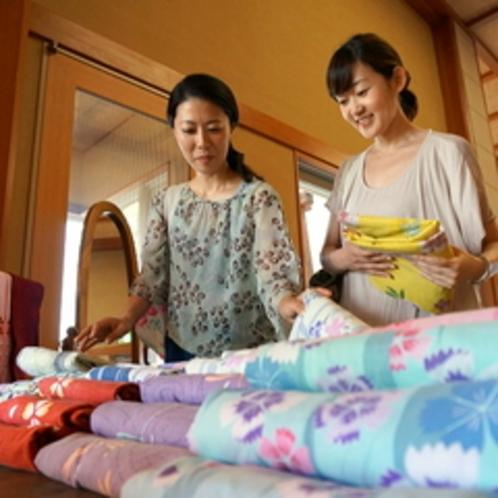 女性に嬉しい彩り浴衣(有料)
