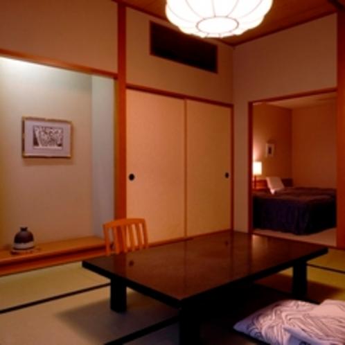【和室10畳+ツイン】バス・トイレ付き -ゆとりの50平米-