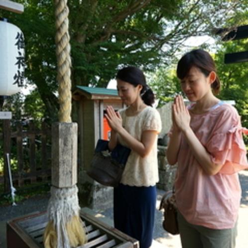 葛城神社で御参り
