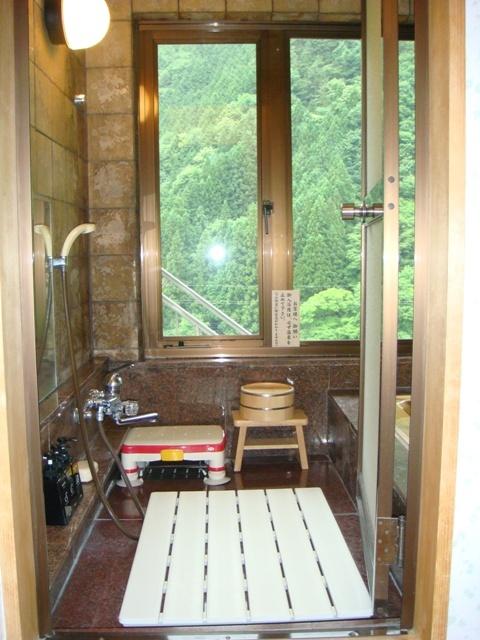 部屋付きの展望風呂