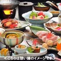 【憩(いこい)膳】お料理一例/リーズナブルに季節の味を楽しめるお食事です。