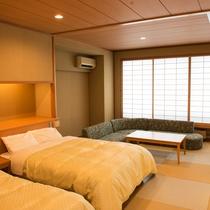 *【2017年8月リニューアル】2ベッド付き和室/和と洋が調和した寛ぎの空間。大切な方とのご宿泊に。