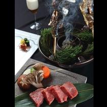 《会席一例》 海の食材を一切使用しない拘りの会席料理