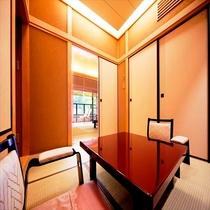 《最上級・露天風呂付き客室》 303号・農鳥岳の間(のうとりたけ) 本間12畳+次の間