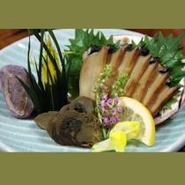 《別注 特別メニュー》  【甲州 鮑の煮貝】 甲州商人が駿河より海の幸鮑を醤油漬にした1品