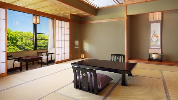 【楽】和室(渓流側)10〜12畳+広縁