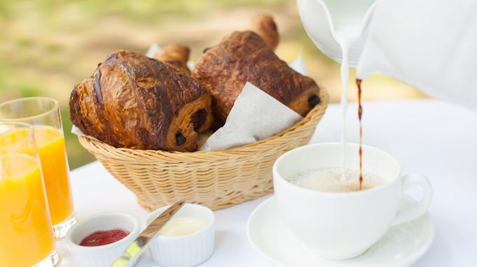 【チェックイン23時まで夕食なしプラン】朝食は焼きたてクロワッサンをお部屋又はお庭にご用意
