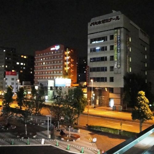 高崎駅東口方面から見たホテル(2)