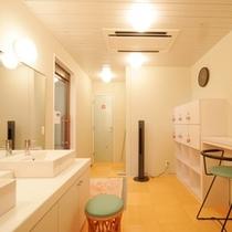 女性大浴場 脱衣室