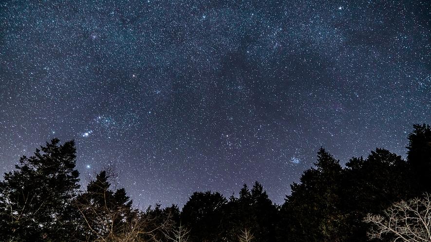晴れた日には宿からも満点の星空が・・・