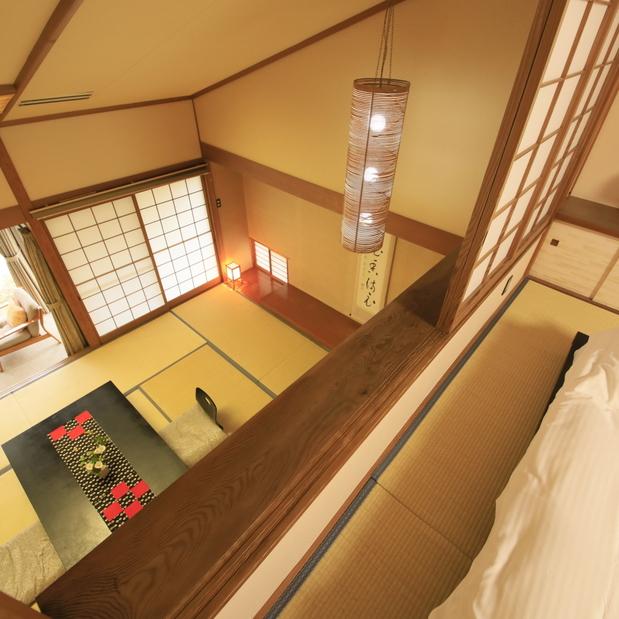 【デラックス】2階建てメゾネット/76.1平米 〜ベッドルームからの眺め〜