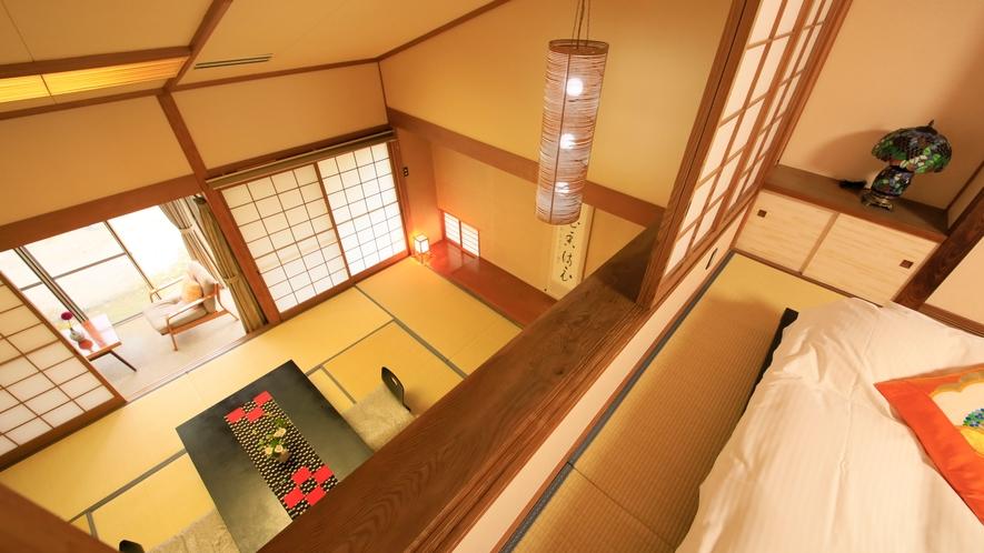 【デラックス】2階建てメゾネット ~階上にベッドルームを配置~