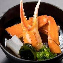 秋の日本海創作会席  蟹汁