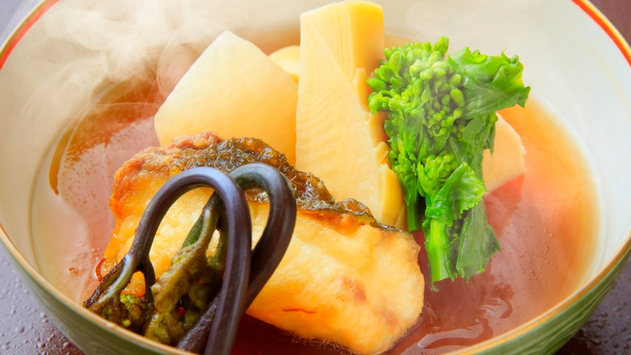 季節のお料理一例。