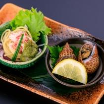 冬のミニ会席【旬  味】 蟹冷製パスタ アボガドソース