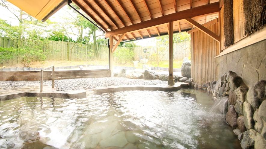 大浴場露天風呂~日中は緑を愉しみながらリフレッシュ~
