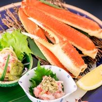 【旬味彩々】 茹でズワイ蟹 蟹味噌和え 蟹冷製パスタ アボガドソース
