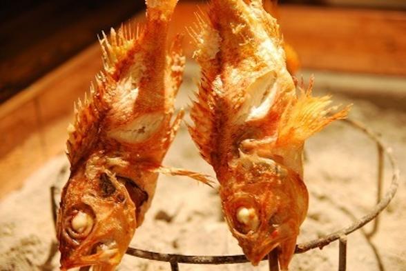 【当館一番人気】地魚のお刺身と炭火焼プラン♪1泊2食付き 『千産知笑の炙りコース』