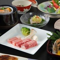 【スタンダードプラン例】4種の山形ブランド食材を使用した「旬彩コラボ和膳(11品)」
