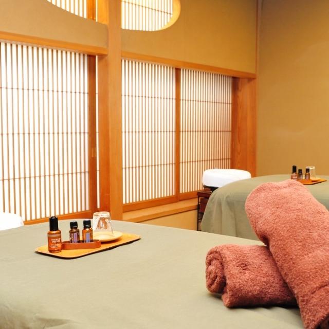 数寄屋造りのspa room 高貴で穏やかな白檀の香りに包まれて・・