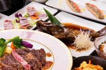 【夕食】沖縄の食材を使った料理の一例
