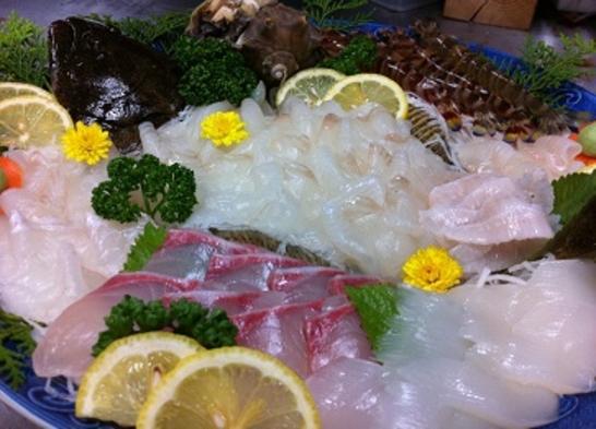 新鮮海の幸たらふくプラン♪【デラックス】平目の姿造り・煮付・天ぷら・好評南蛮漬け!おなか一杯海の幸☆