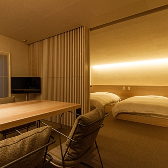 【半露天】本間+ベッド+リビング|蔵王ビュー(84平米)B