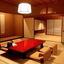 【客室Fタイプ「柊」】 当館最大の客室です!大勢で一緒のお部屋に泊まりたい時に重宝されるお部屋。