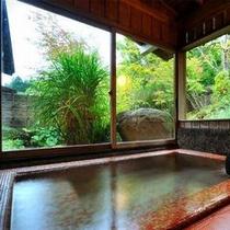 【客室Cタイプ一例「虹」】 赤いタイルが懐かしい、レトロな客室風呂はこのお部屋だけ。