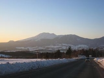 浅間山 道から 冬