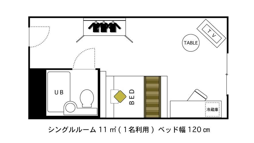 シングルルーム間取り図