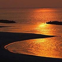 皆生海岸の夕日