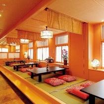 お食事処 「遊菜亭」落ち着いた雰囲気のお食事処で、お料理をゆっくりとご堪能。