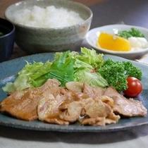 夕食レストラン【花々亭】しょうがやき定食