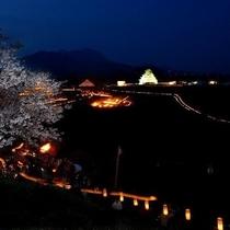 イベント◇原城一揆まつり◇追悼キャンドルによる幻想的な一夜城