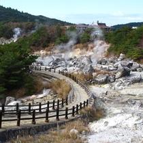 周辺情報◇雲仙地獄湯◇湯気で覆われた地獄のような景色で極楽を味わえる!?