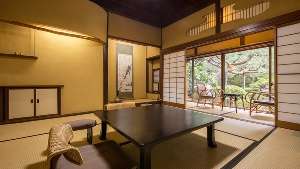 【本館】眺望庭園|和室8畳 <内風呂:温泉/部屋食>